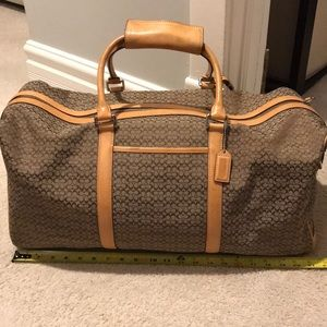 Authentic Coach duffle and make up bag